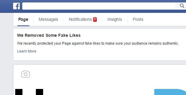 "We've Removed Some Fake Likes"" Warning on Facebook"