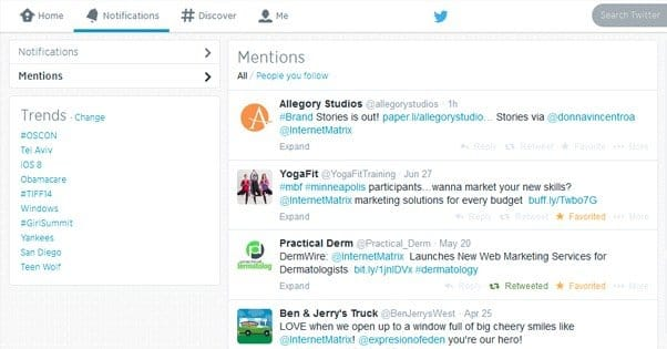Twitter Mention Tracking