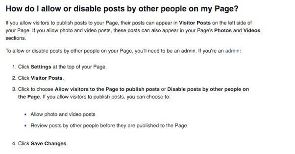 How to Prevent Others from Posting to Your Facebook Page
