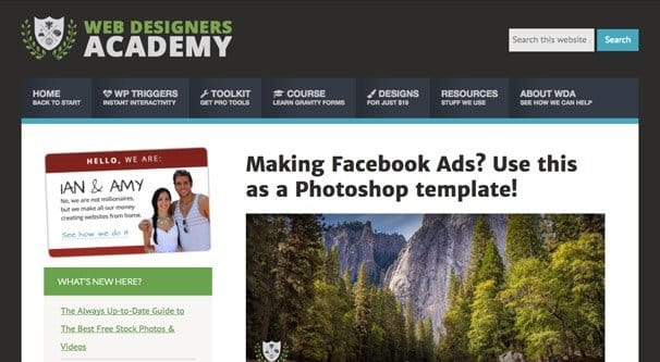 Photoshop PSD Templates For Facebook Ad Images - Facebook ad photoshop template