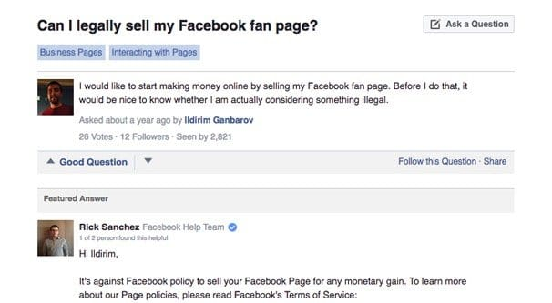 Why It's No Longer Safe to Buy or Sell Facebook Pages