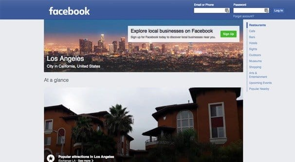 Facebook Places Home