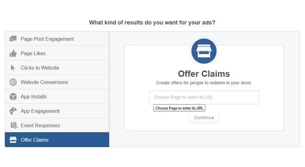 Creating an Offer on Facebook