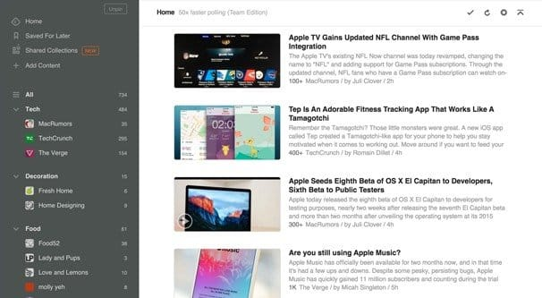 Feedly Checking Top Blog Feeds