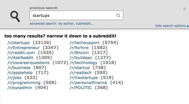 Looking Up Subreddits