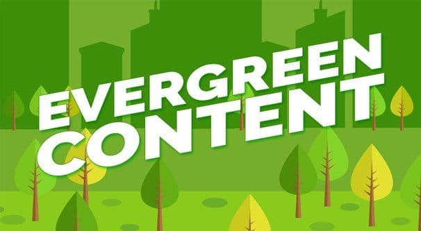 Evergreen Content Illustration