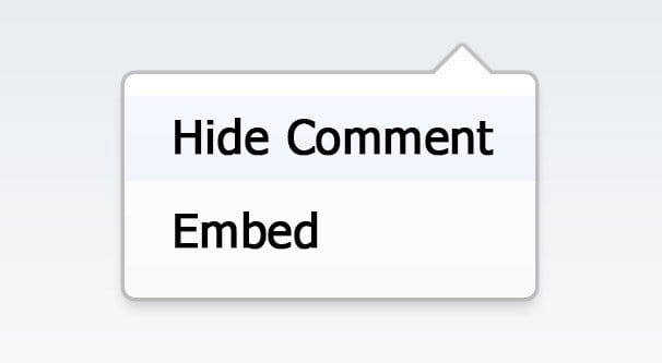 Hide a Facebook Comment