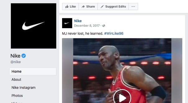 Nike Example Post