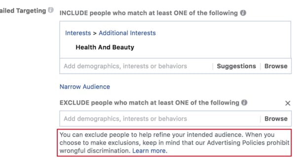 Refine Targeting on FB