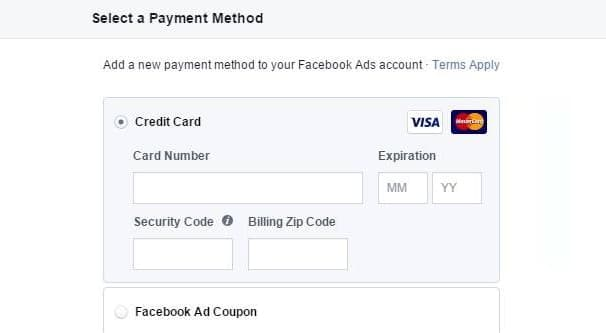 Automatic Billing Setup Screen