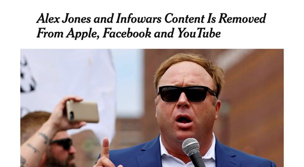 Alex Jones Removed From YouTube