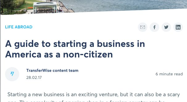 Start a Business as a Non-Citizen