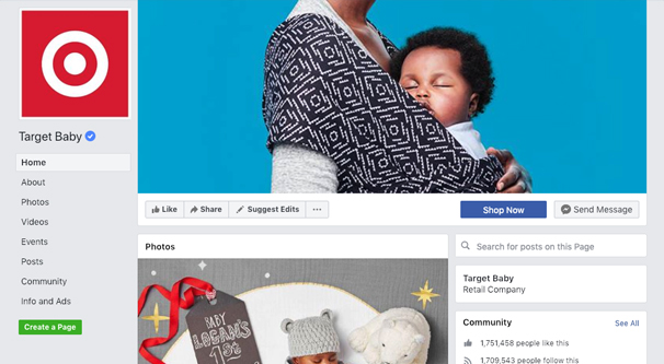 Target Baby Page