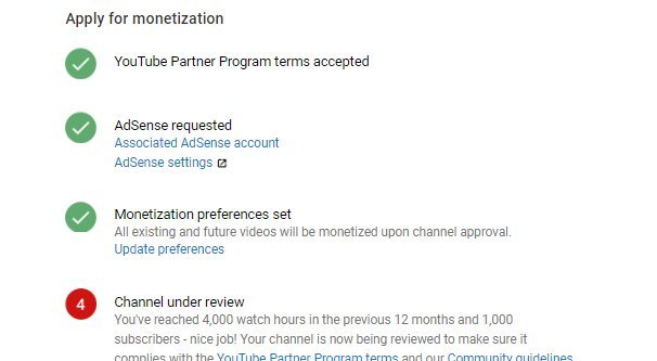 YouTube Channel Under Review