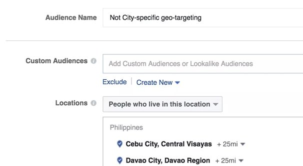 Geo Targeting Location on Facebook Ads