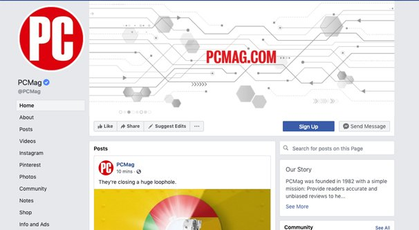 PCMag Facebook Page