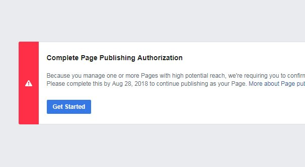 Page Publishing Authorization Error