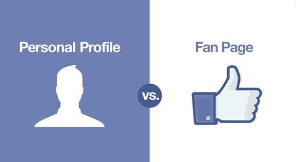 Profile vs Fan Page
