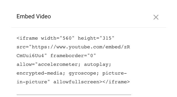 Embed Video on Page