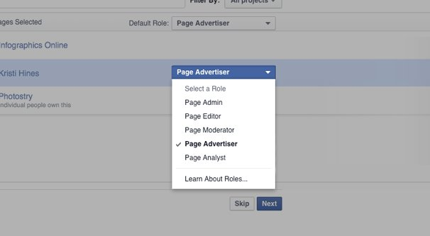Setting Page Roles in Ad Manager