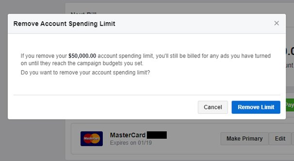 Removing Spending Limit