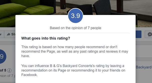 Low Rating on FB