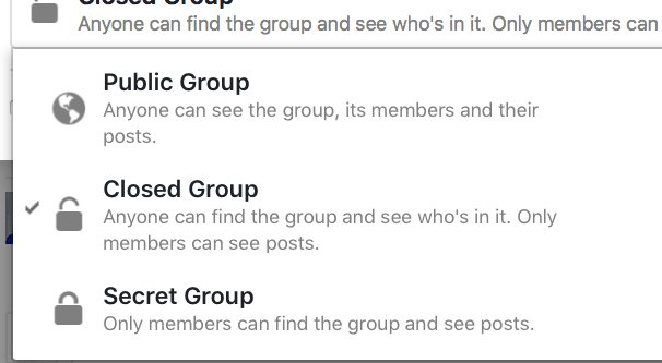 Closed Private Facebook Group