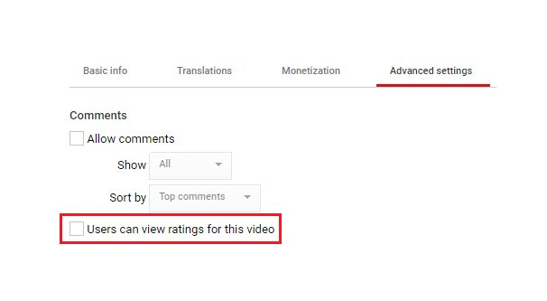 How to Disallow Ratings