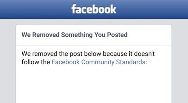 Facebook Post Removed Community Standards
