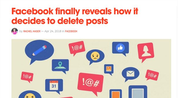 Why Facebook Deletes Your Posts for Community Standards