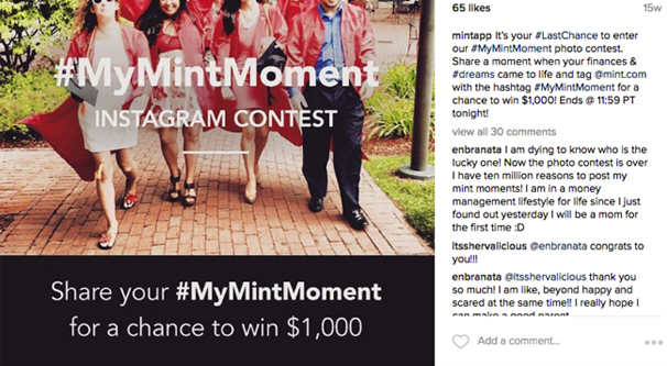 Example Instagram Contest