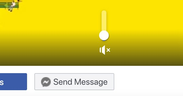 Mute Icon on Facebook Video