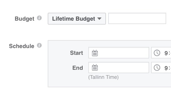 Setting a Lifetime Budget